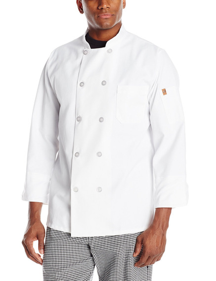 Chef Designs Rk Ten Pearl - Abrigo De Chef Para Hombre
