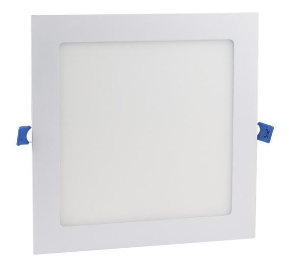Painel Plafon 18w Led Quadrado Teto Embutir Branco Frio