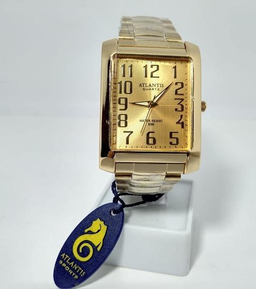 Relógio Atlantis A3072 Dourado (números) - Unissex - Novo
