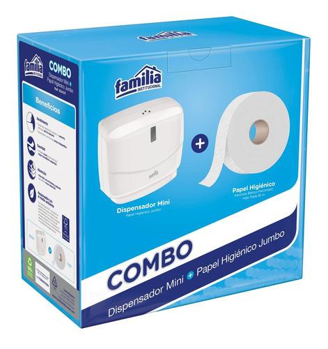 Dispensador Mini + Papel Higienico Jumbo
