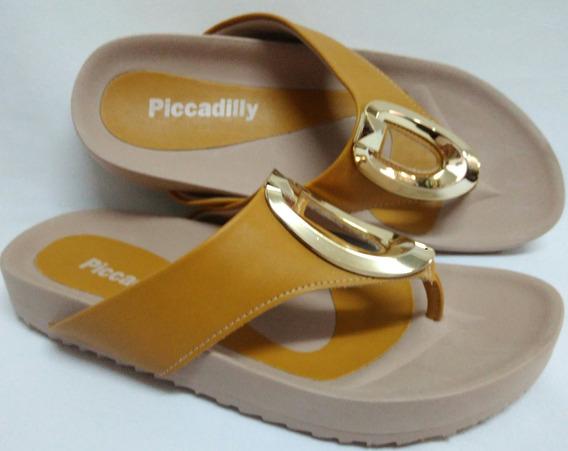 Tamanco Piccadilly Canoa Mostarda/areia Super Confortável