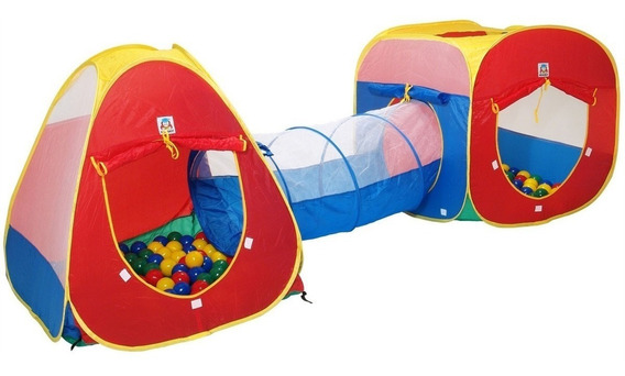 Toca Barraca Infantil 3 Em 1 Com Tunel- Linda