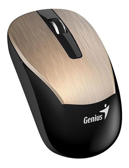 Mouse Wireless Genius Gold 2,4 Eco-8015 Bateria Recarregável