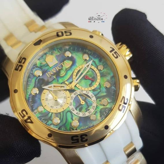 Relógio Invicta Pro Diver 24840 Branco Mostrador Colorido