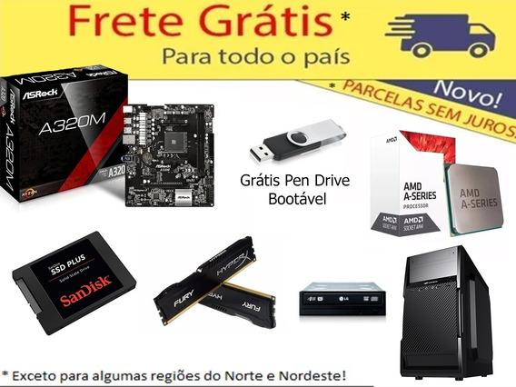 Kit Asrock Am4 + A10 9700 + 8gb Hyperx + Gab + Ssd 120 + Dvd