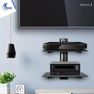 Repisa De Pared Television Aluminio Vidriotemplado Xtech 315