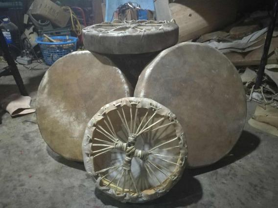 Tambores 40 Cm Artesanales Con Amarre Lakota