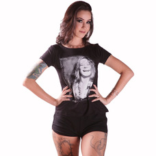 Cropped Regata Morena Deluxe Caveira Rockn Roll Branco · Camiseta Renda  Costas Rock Chick (camiseta Estampa Janis) a42defee09e