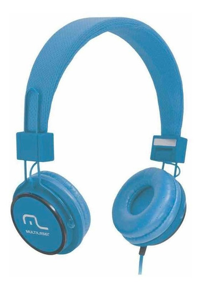 Headphone Fun Azul Ph089 Multilaser Blister Novo 0km