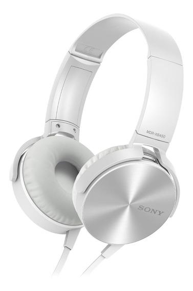 Fone De Ouvido Sony Mdr-xb450 Com Microfone - Branco