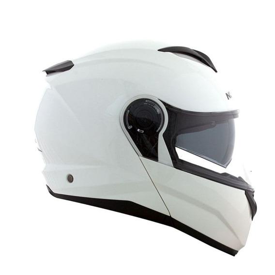 Capacete Norisk Force Monocolor (c/viseira Solar) Branco Rs1