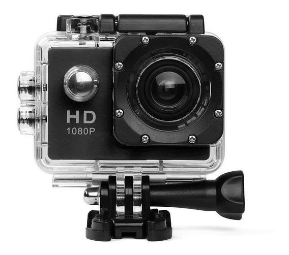 Câmera Filmadora Full Hd 1080p Digital Action Go Prova Dàgua