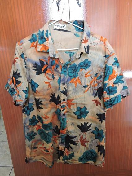 Camisa Masculina Havaiana 100% Viscose M