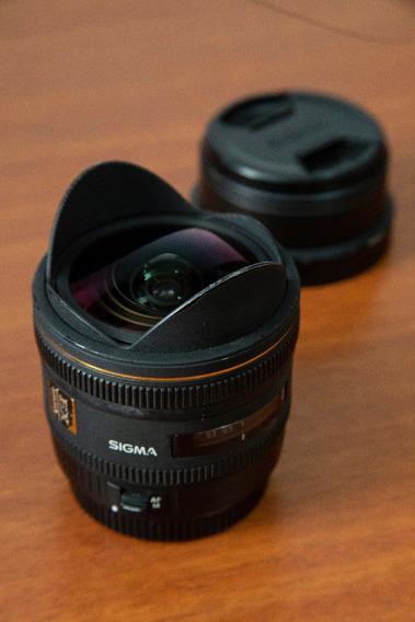 Lente 10 Mm F/2.8 Sigma Olho De Peixe Fisheye Para Canon