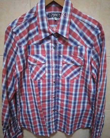 Camisas Dama Calidad Dior/rochas Escocesas O Jean