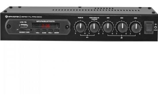 Amplificador 50w Com Bluetooth Versatil Pro-500 Preto Hayoni