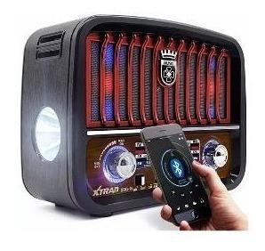 Caixa De Som Retrô Rádio Bluetooth Fm Am Portátil Lanterna Vintage Usb