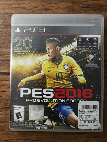 Pes 2016 Playstation 3 Ps3 Buen Estado !!