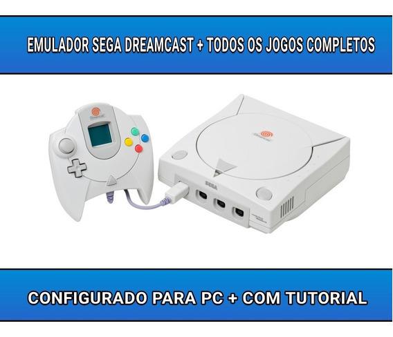 Emulador De Dreamcast + Coleção Completa De Roms