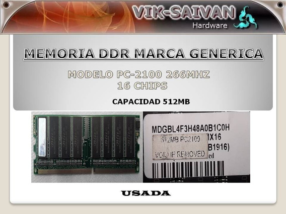 Memoria Ddr Generica 512mb Pc-2100 266mhz 16 Chips 17