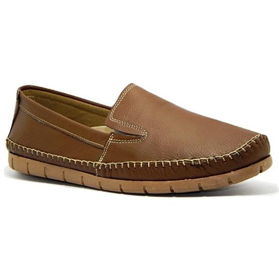 Sapato Mocassim Masculino Couro Abc 204 - Caramelo