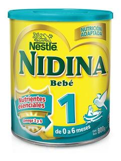 Nidina 1 Nestle 0 A 6 Meses Formula 800gr X 6 Paquetes
