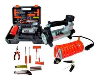 Kit Compresor 12v Auto Moto Kit Herramientas Reparacion Sti