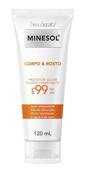 Protetor Solar Corpo E Rosto Neostrata Minesol Fps 99 120ml