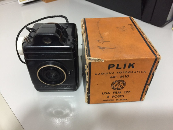 Maquina Fotografica Plik - Mf-m10 - Rara, Antiga - Com Caixa