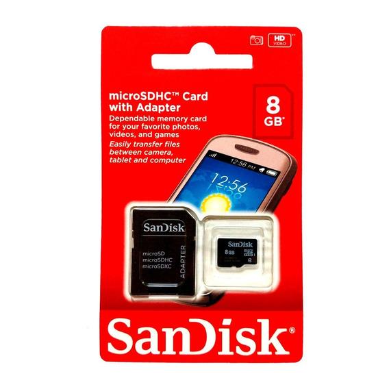 Cartão De Memória 8gb Sandisk Kit C/ 10 Unidades Atacado