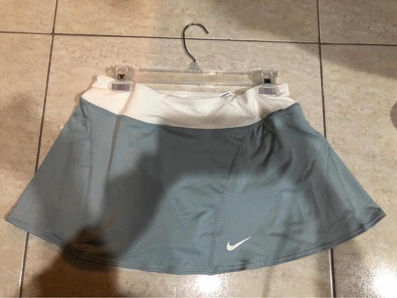 Short Falda Tenis Mujer Nike, Gris, Grande (l), Nueva