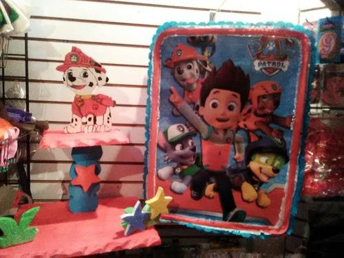 Combo Paw Patrol Piñata+chupetera