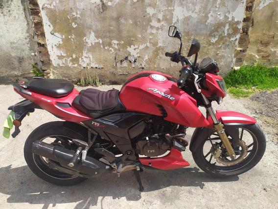 Apache 200 Rojo Mate, Bien Cuidada