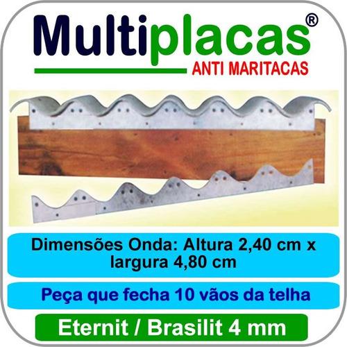 Placa Anti Maritacas Amianto 4 Mm 1 Metro Kit 10 Peças