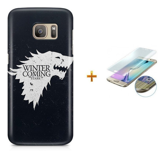 Kit Capa Galaxy S7 Edge Game Of Thrones+pel Vidro Bd1
