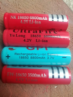 Bateria Litio Recargable 18650 Varios Amp Varios Precios