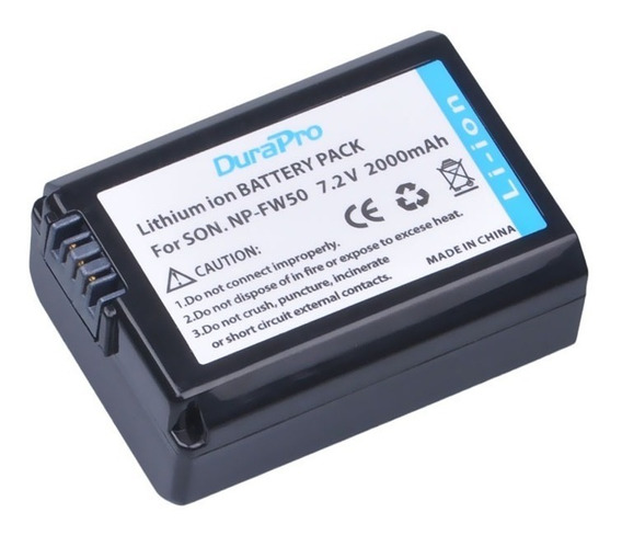 Bateria P/ Sony Alpha Np-fw50 C 2000mah D Potencia