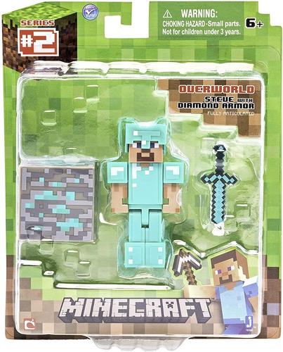 Juguete Minecraft Set De 3 Muñecos Con Accesorios Originales