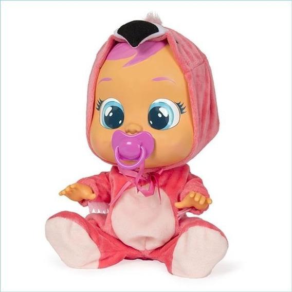 Boneca Cry Babies Flamy C/ Chupeta Multikids - Br121