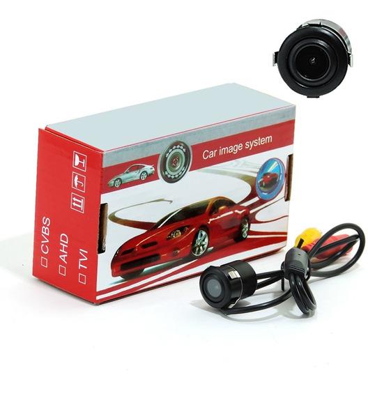 Mini Câmera Ré Automotiva Estacionamento Colorida- Saída Rca