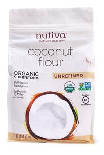 Harina De Coco - Nutiva - 454gr - Raw Vegano Paleo -