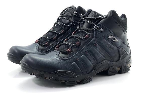 Botita Trekking Cuero Pegada 150053 El Mercado De Zapatos!