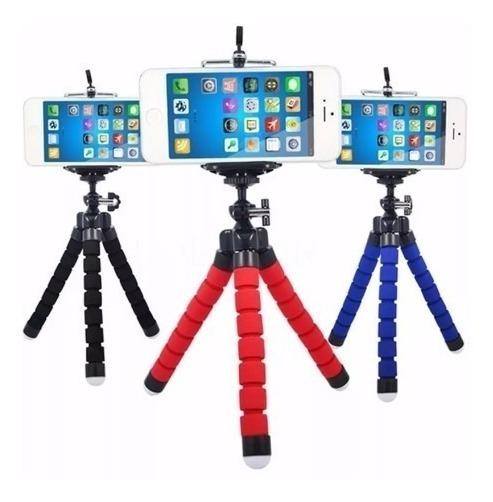 Tripé Pedestal Flexível Suporte Celular Smartphone Fotos