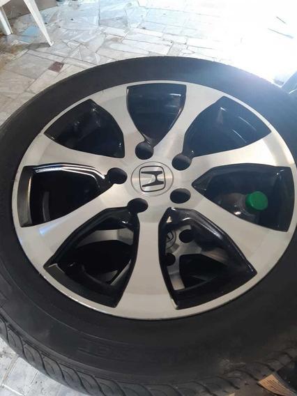 Aro Completo Honda Civic 2012 Com Pneus Ótimos
