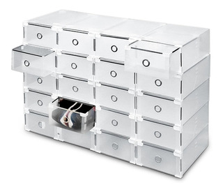 Organizador De Zapatos Cajas Pack 20 Talle 44 Transparente