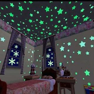 Estrellas Fluorescentes 100 Unids 3cm