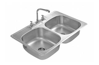 Tarja Doble Acero Inoxidable Llave Mezcladora Agua De Cocina