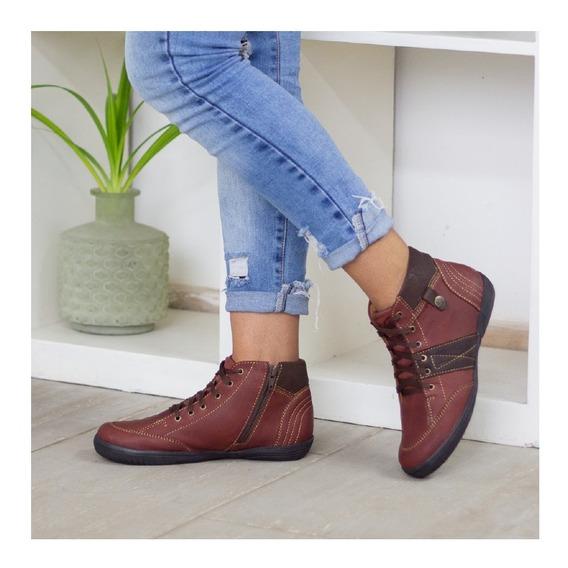 Botines Cuero Dama, Zapatos Cuero Maribu Shoes - Mod #672