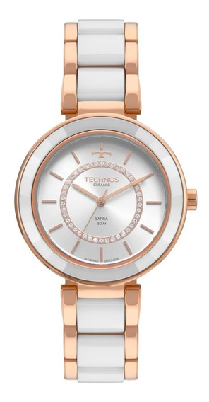 Relógio Feminino Technos Elegance 2036mkp/4b Cerâmica Branca