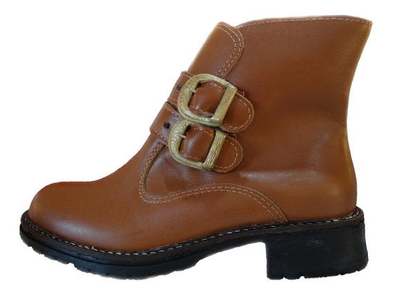 Botinetas Dama-mujer De Cuero Borcego - Zapatos - Bota 2018